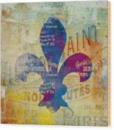 French Inspired Fleur De Lis Wood Print