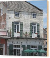 French Market Cafe Wood Print