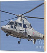 French Navy As565 Panther Helicopter Wood Print
