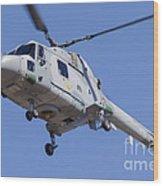 French Navy Westland Sea Lynx Wood Print