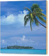 French Polynesia, Bora Bo Wood Print