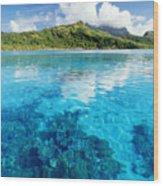 French Polynesia, View Wood Print