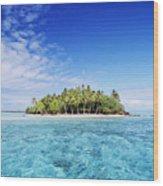 French Polynesian Island Wood Print