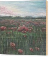 French Poppies Wood Print