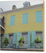 French Quarter 20 Wood Print