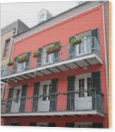 French Quarter 21 Wood Print