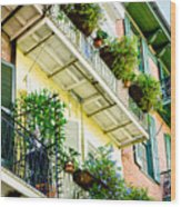 French Quarter Balconies - Nola Wood Print