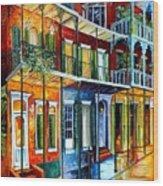 French Quarter Charm Wood Print