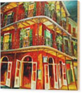 French Quarter Corner Wood Print
