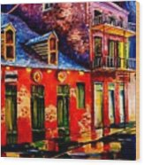 French Quarter Dazzle Wood Print