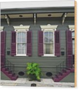 French Quarter Home Wood Print