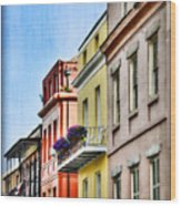 French Quarter In Summer Wood Print