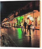 French Quarter New Orleans Wood Print