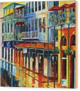 French Quarter Sunrise Wood Print