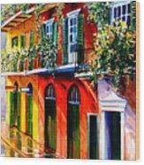 French Quarter Sunshine Wood Print
