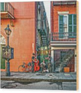 French Quarter Trio Wood Print