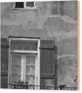 French Quarter Window Wood Print