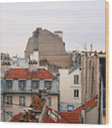 French Rooftops  Wood Print