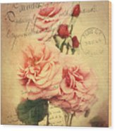 French Rose Bouquet Wood Print