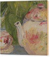 French Teapot Wood Print