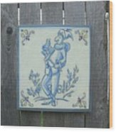French Tile 1 Wood Print