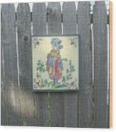 French Tile Colored 3 Wood Print