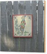 French Tile Colored 4 Wood Print