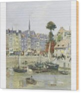 French View Of Honfleur Wood Print