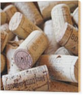 French Wine Corks Wood Print