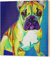Frenchie - Tugboat Wood Print by Alicia VanNoy Call