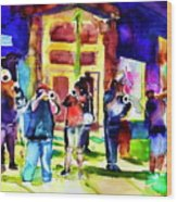 Frenchman Street Wood Print