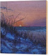 Frenchy's Sunset Wood Print