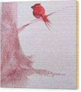 Frequent Visitor Wood Print