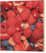 Fresh Berry Salad  Wood Print