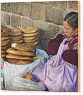 Fresh Bread Wood Print
