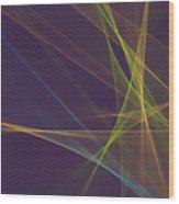 Fresh Computer Graphic Line Pattern Wood Print