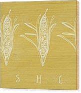 Fresh Corn- Art By Linda Woods Wood Print
