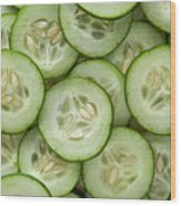 Fresh Cucumbers Wood Print