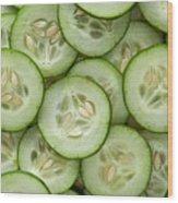 Fresh Cucumbers Wood Print