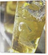 Fresh Drink With Lemon Wood Print