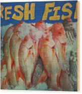 Fresh Fish Wood Print