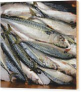 Fresh Fishes In A Market 2 Wood Print