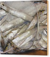 Fresh Fishes In A Market 3 Wood Print