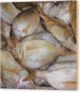 Fresh Fishes In A Market 4 Wood Print