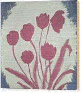 Fresh Flowers- 1st In Series-morning Shadow Wood Print
