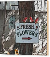 Fresh Flowers Wood Print