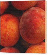 Fresh Fuzzy Peaches Wood Print