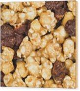 Fresh Gourmet Popcorn In Filled Frame Layout  Wood Print