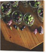 Fresh Harvested Olives And Tunas Wood Print