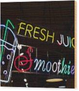 Fresh Juices Wood Print